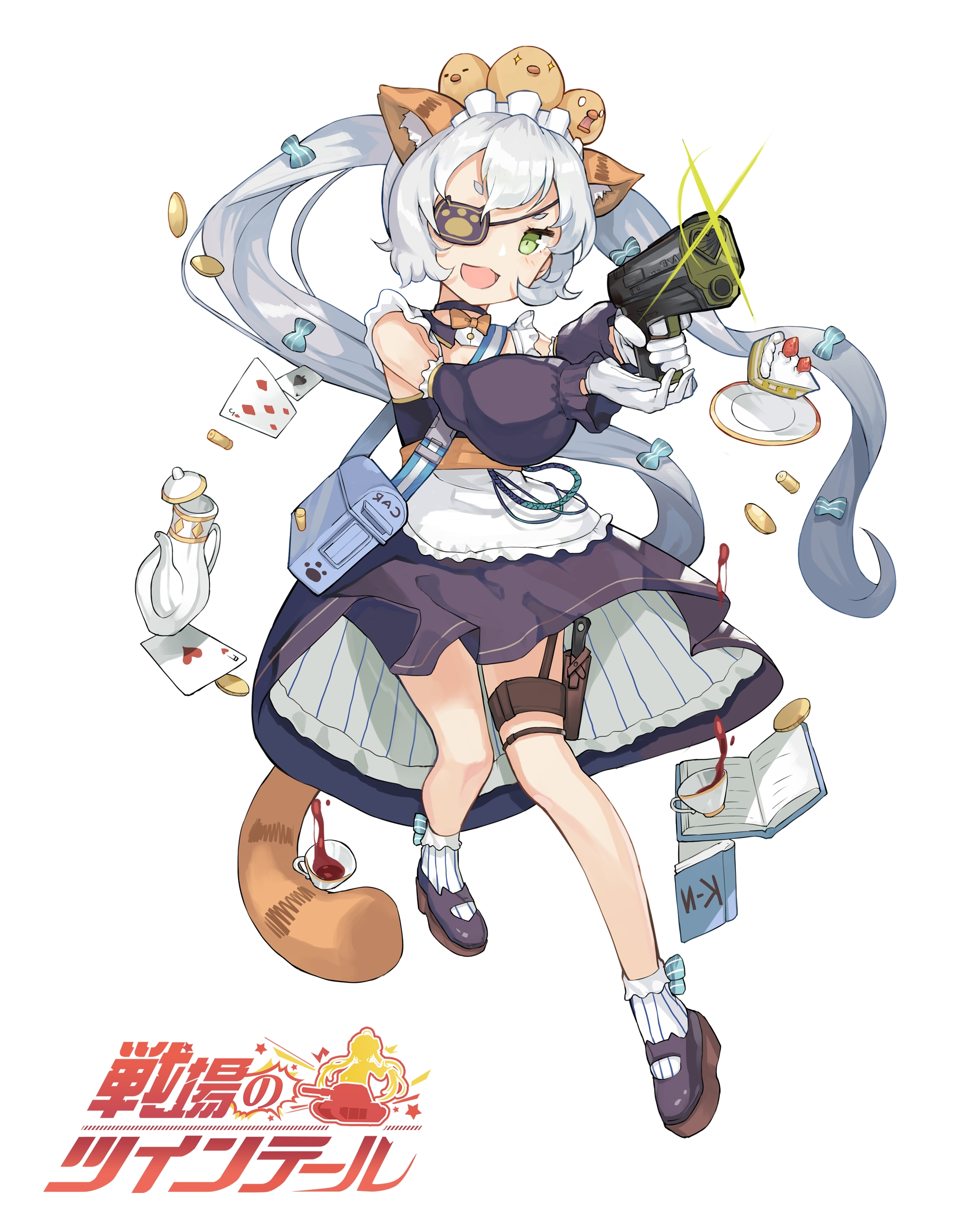 yande.re 412027 animal_ears eyepatch gun maid senjou_no_twintail tail weapon.jpg
