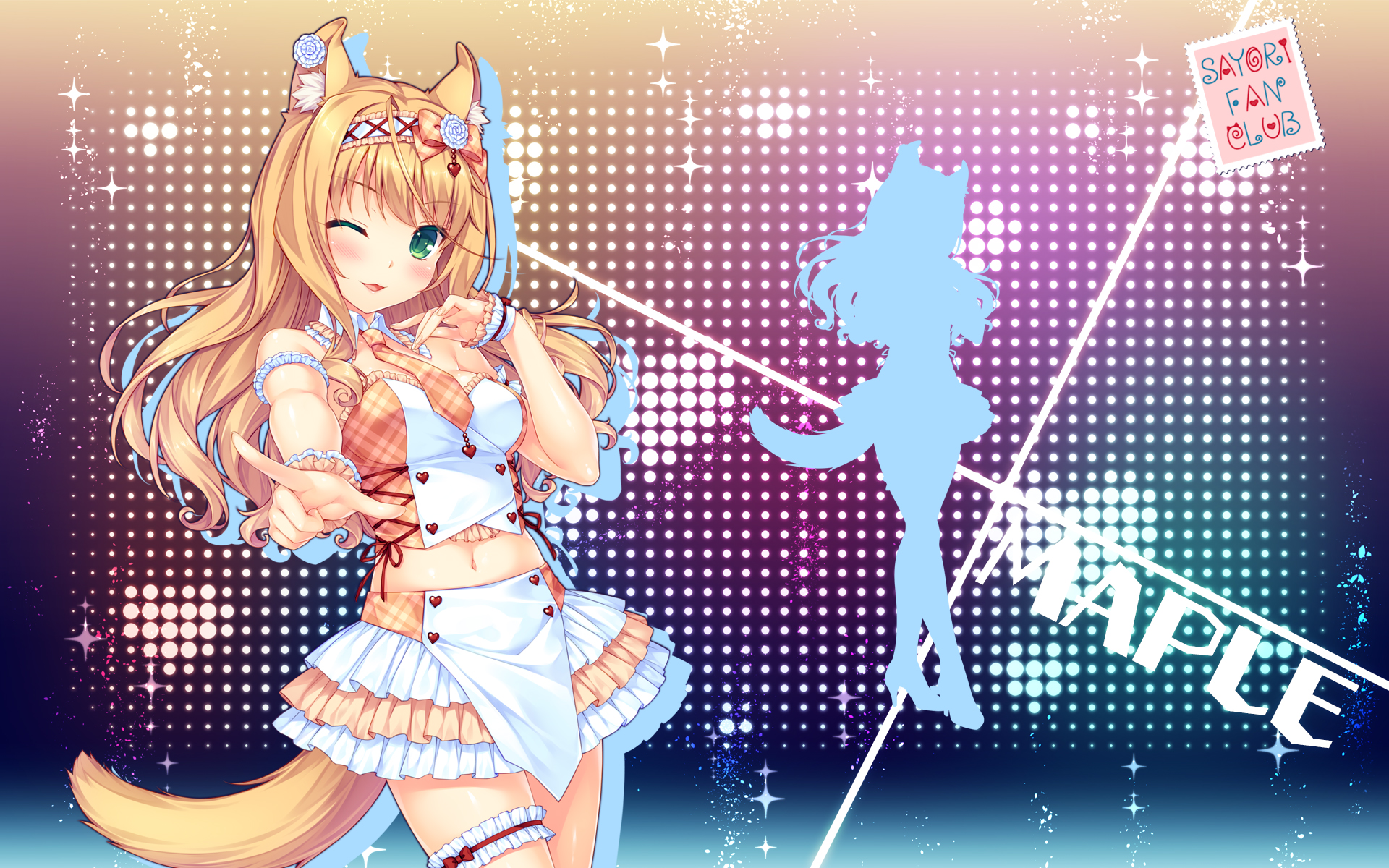 yande.re 405909 animal_ears garter heels maple_(neko_para) neko_para sayori silhouette tail wallpaper.jpg