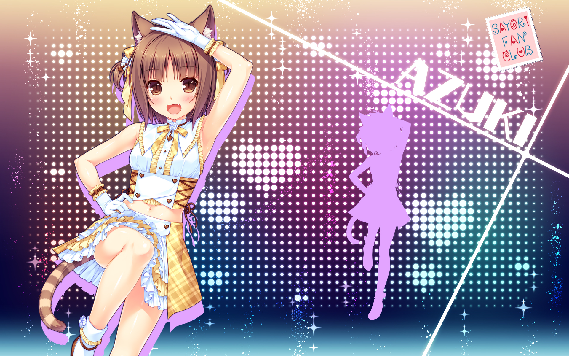 yande.re 406369 animal_ears azuki_(neko_para) neko_para sayori silhouette tail wallpaper.jpg