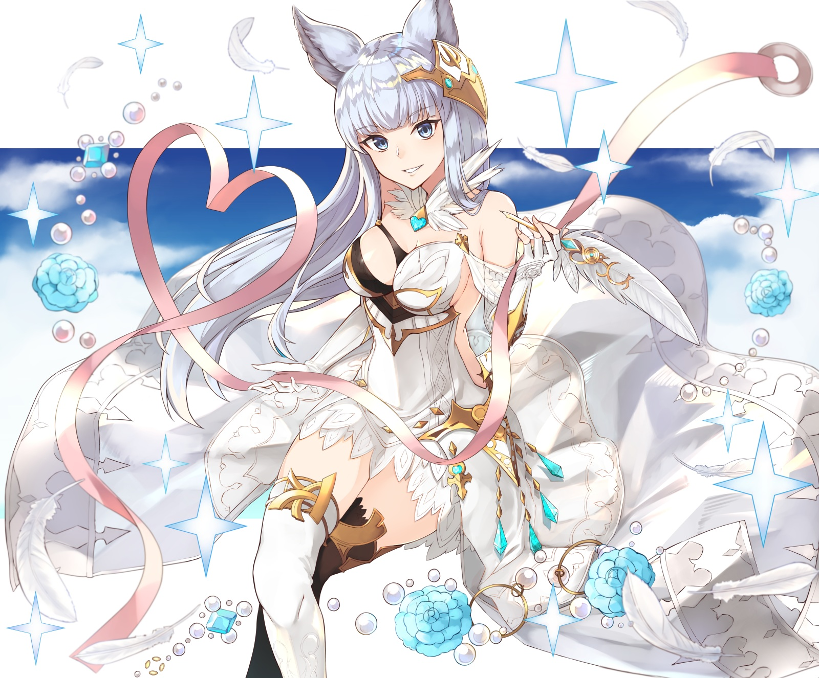 yande.re 366436 animal_ears dress gen_withillust granblue_fantasy korwa thighhighs.jpg
