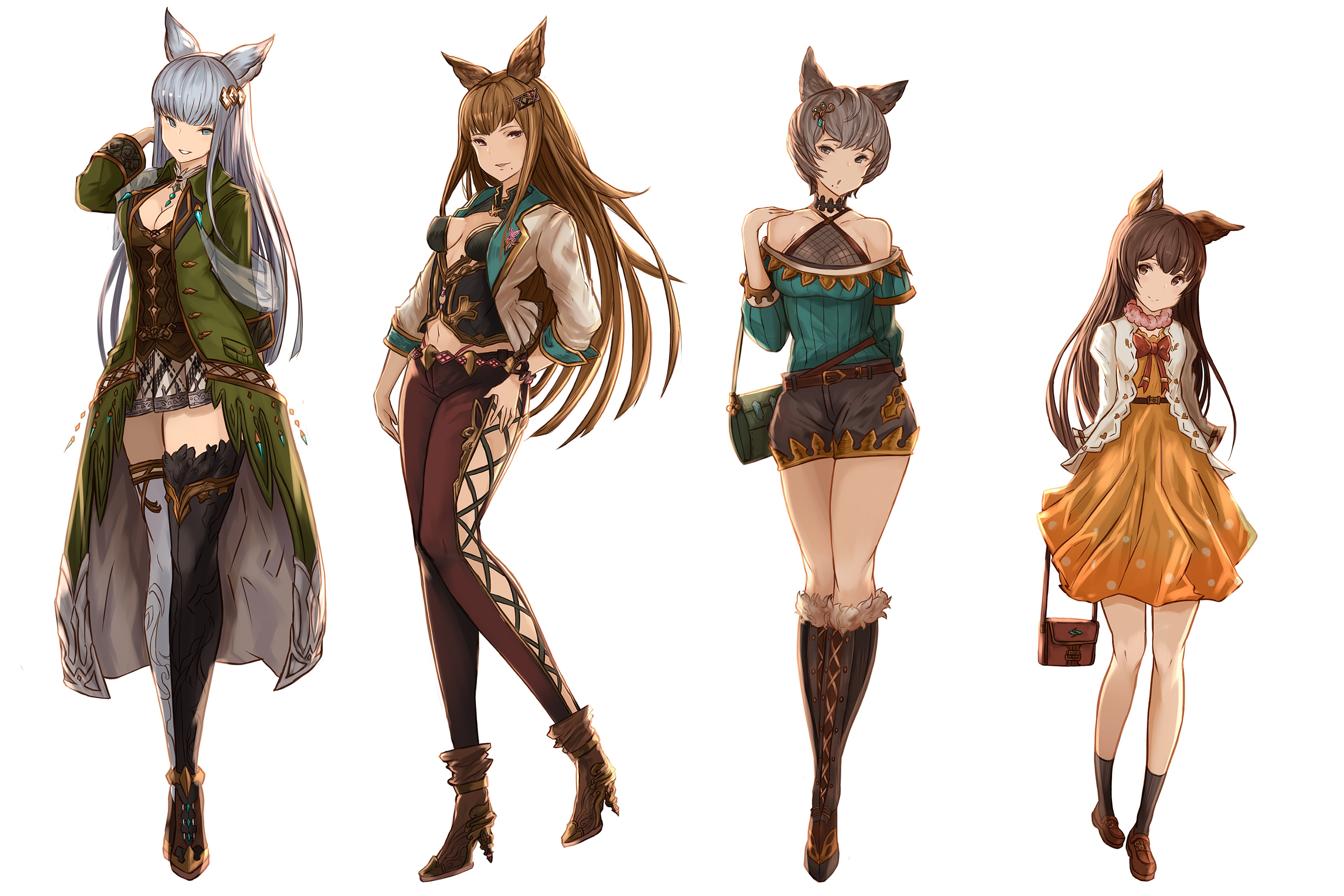 yande.re 373231 animal_ears cleavage dress fishnets granblue_fantasy heels no_bra thighhighs yatsuka_(846).jpg