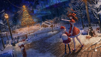 yande.re 503324 christmas dress heels horns ji_dao_ji landscape thighhighs wallpaper.jpg
