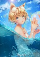 yande.re 498010 animal_ears sai_ichirou swimsuits wet1.jpg