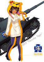 yande.re 536956 dress girls_und_panzer heels pantyhose suzuki_(girls_und_panzer) sweater tagme.jpg